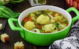 Из цветной капусты получается вкусный суп