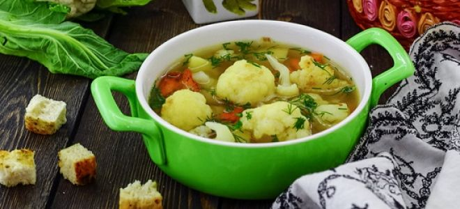 Вкусный суп из цветной капусты