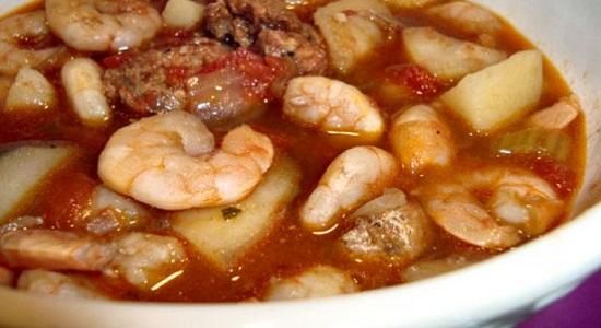 Рецепт суп с креветками