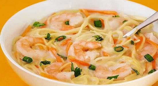 Рецепты супов с креветками