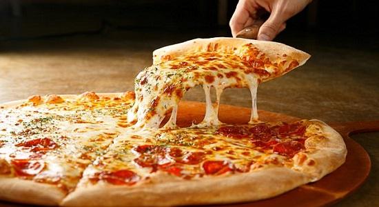 еда пицца