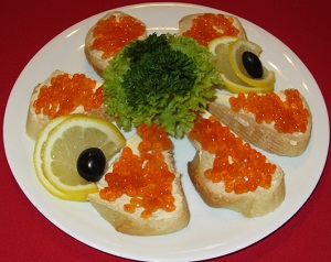Красная икра – калорийность