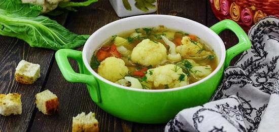 вкусный суп с цветной капустой